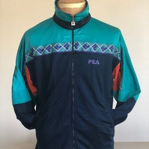 Vintage FILA Color block Track Jacket | Medium